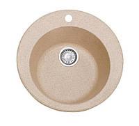 Гранитная мойка круглая 47 см COSH D47 800 замороженный персик
