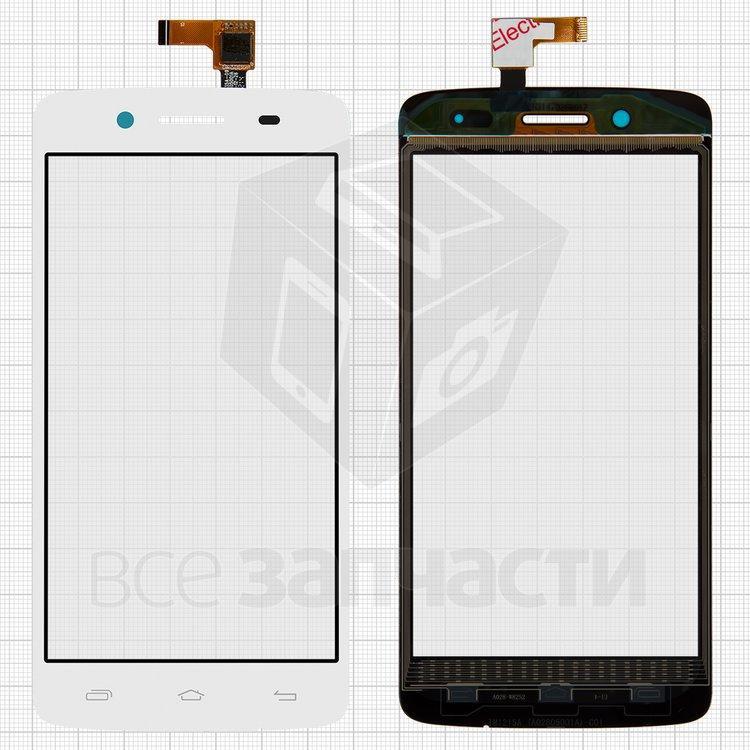 Сенсорный экран для мобильного телефона Prestigio MultiPhone 5507 Duo, белый, #TF0635A-09 A02805001A