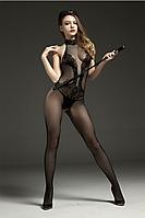 Сексуальное женское боди сетка 44-48р(S-XL) чёрное