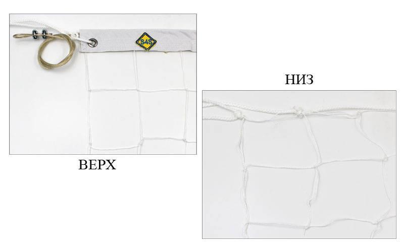 Сітка для волейболу вузлова з тросом (р-н 9,5х1м, осередок 10х10см) SO-5264