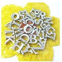 Именной браслет буковки наборной серебро