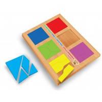 Деревянные кубики Методика Никитиных Сложи квадрат 2 уровень, 12 квадратов Вундеркинд СК-020