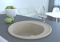 Мойка круглая искусственный камень песочная 51 см COSH D51 300