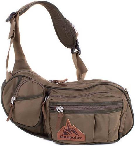 Мужская сумка через плечо цвета хаки ONEPOLAR (ВАНПОЛАР) W3015-khakki