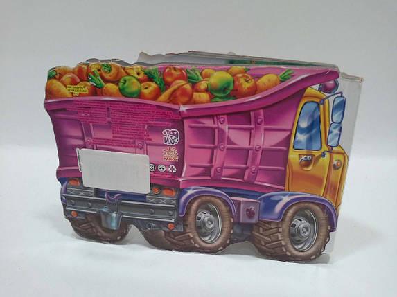 Ранок Картон Кумедні машинки МІНІ (укр) Вантажівка, фото 2