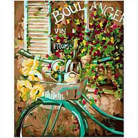 Набор для рисования по номерам Велосипед у окна