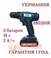 Акумуляторний шуруповерт EURO CRAFT CD226 18v 2А/ч (ГЕРМАНИЯ)