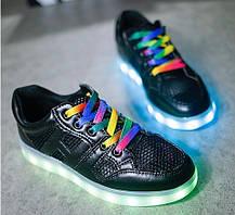 Светящиеся детские LED кроссовки Siumlation, 35 размер