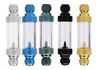 Счетчик пузырьков WYIN пластиковый с обратным клапаном, 2Х8 см