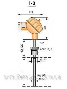 Термопреобразователи ТЭРА Модель 1-3