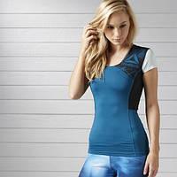 Компрессионная футболка женская для занятий спортом Reebok ACTIVCHILL BK3138 - 2017