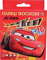 """Мелки восковые 1 Вересня """"Cars"""" Jumbo 16 цветов."""