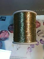 Нить для вышивания люрекс, цвет светлое золото, 100м