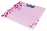 Весы напольные электронные mystery mes-1808 pink