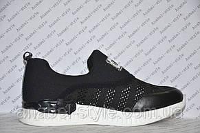 Кроссовки женские модные черного цвета, фото 2