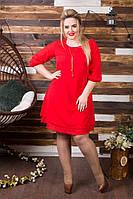 Женское шифоновое платье (54-60)