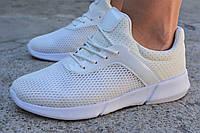 Женские кроссовки найк роши роше ран белые Nike Roshe Run white