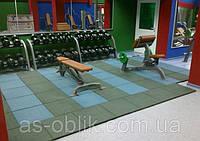 Резиновая плитка для спортивных площадок 500х500х35 мм