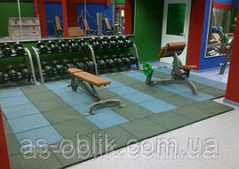 Гумова плитка для спортивних майданчиків 500х500х35 мм