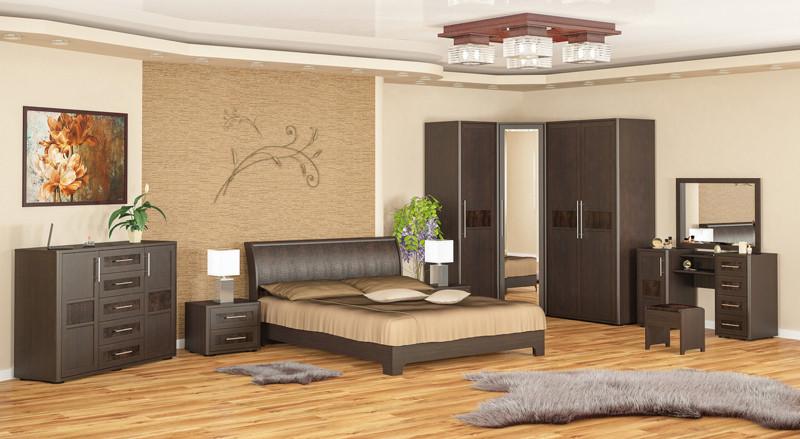 Спальный гарнитур Токио (вариант 2) на 10 элементов мебели. Производитель Мебель-Сервис