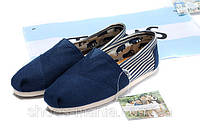 Кеды Toms Classic Slip-On blue-white