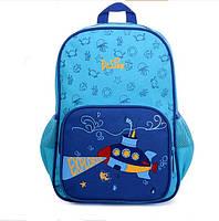 Школьный ортопедический рюкзак премиум класса DeLune голубой