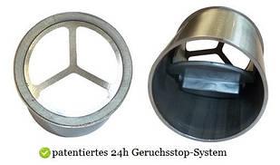 Сухой затвор 24h Geruchsstop с запахозапирающим обратным клапаном для душевых каналов