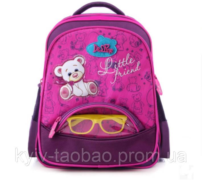 Школьный ортопедический рюкзак премиум класса DeLune 1-4 класс розовый