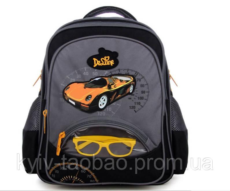 Школьный ортопедический рюкзак премиум класса DeLune 1-4 класс серый