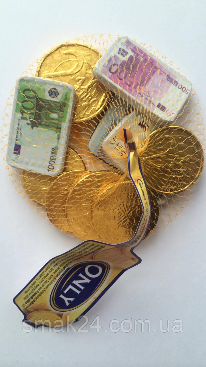 Шоколадные Монеты ЕВРО (молочный шоколад) Onli Австрия100г