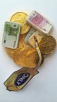 Шоколадные Монеты ЕВРО (молочный шоколад) Onli Австрия100г, фото 1