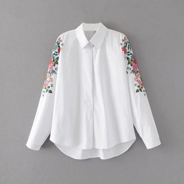 77b5453149eeddc Рубашка женская вышитая NNT 867 Рубашки с вышивкой Zara реплика -  супермаркет матадор в Киеве