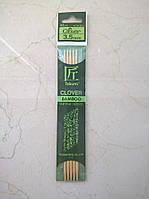 Спицы носочные бамбук Clover Takumi 16смх3,50мм