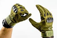 Тактические перчатки полнопалые, олива, фото 1