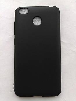 Силиконовый чехол Xiaomi redmi 4x черный матовый