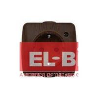 Розетка с заземлением накладная El-Bi ALSU орех 504-010400-217