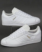 Кроссовки в стиле Adidas Gazelle Leather Trainers White, фото 2