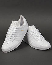 Кроссовки в стиле Adidas Gazelle Leather Trainers White, фото 3