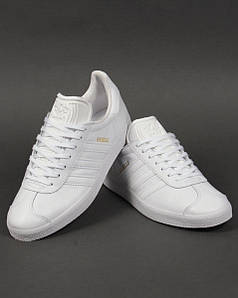 Кроссовки мужские Adidas Gazelle Leather Trainers White
