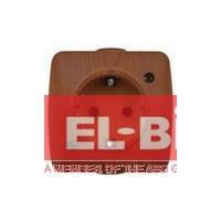 Розетка с заземлением накладная El-Bi ALSU вишня 504-010600-217