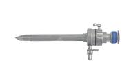 Троакар с механическим  клапаном пирамидальным стилетом, диаметр 5.5/10.5 мм длина 110 мм Wanhe
