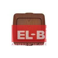 Выключатель 1-кл проходной накладной El-Bi ALSU вишня 504-010600-209