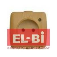 Розетка без заземления накладная El-Bi ALSU бук 504-010700-215