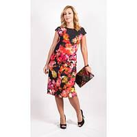 Женское нарядное платье 182 с цветами