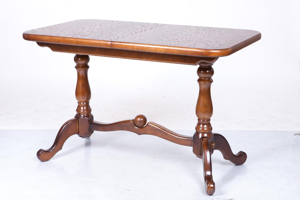 Стол раскладной Дуэт 140 светлый орех обеденный деревянный