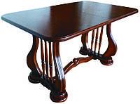 Стол обеденный Лира (Арфа) 190 см темный орех деревянный раскладной 140(+50)х85х75 см
