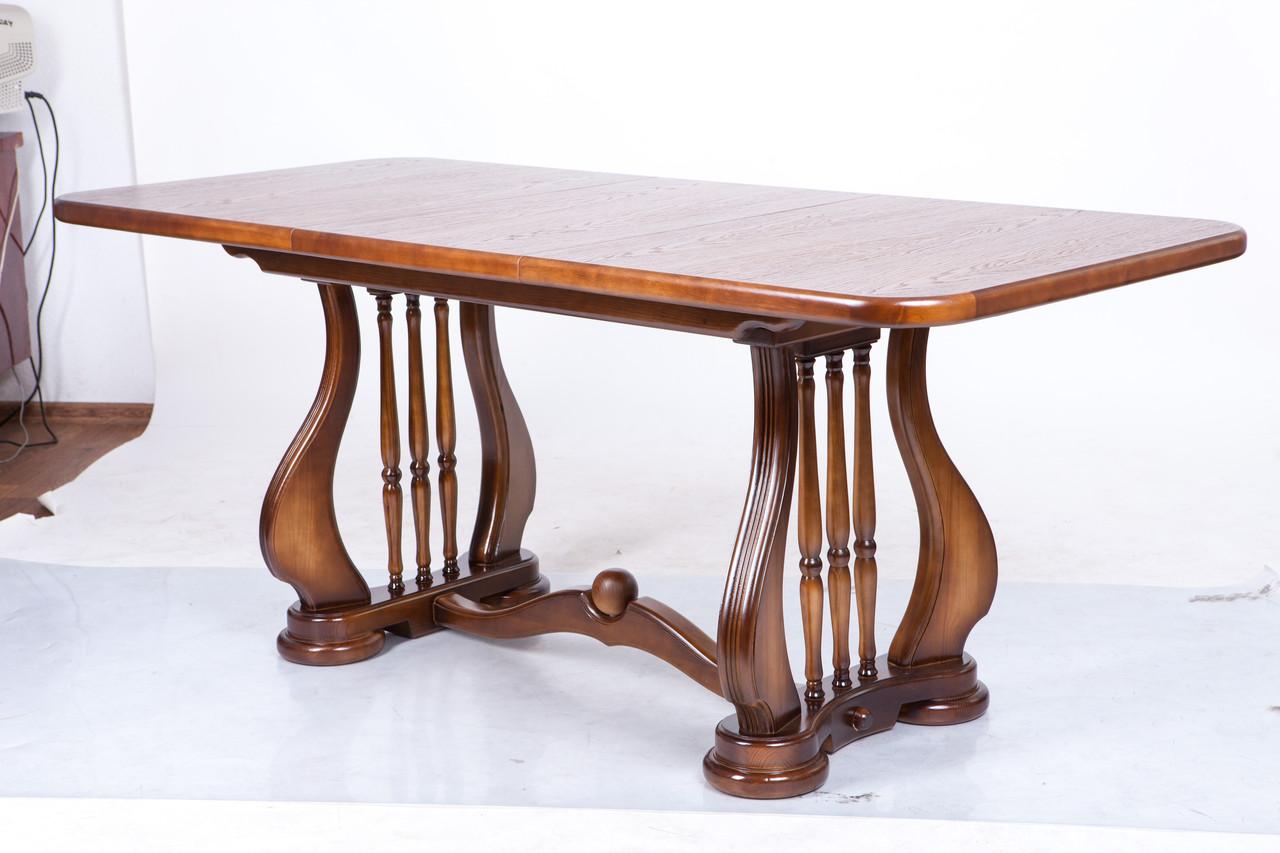 Стол обеденый Лира (Арфа) 190см св орех деревянный раскладной 140(+50)х85х75 см