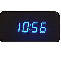 Часы  с синим индикатором от батареек 1295