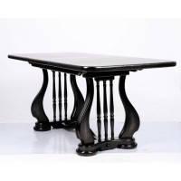 Стол обеденый Лира (Арфа) 190см венге деревянный раскладной 140(+50)х85х75 см