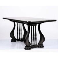 Стол обеденный Лира (Арфа) 190 см венге деревянный раскладной 140(+50)х85х75 см